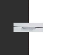Rauch Quadra Metallic Grey Carcase with Alpine White Front and Aluminium Color Handle No2 A874L