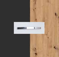 Rauch Quadra Metallic Grey Carcase with Aritsan Oak Front and Chrome Color Handle No1 AD67D