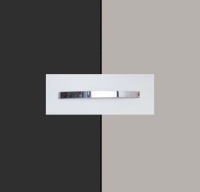 Rauch Quadra Metallic Grey Carcase with High Polish Soft Grey Front and Chrome Color Handle No1 AA41D