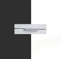 Rauch Quadra Metallic Grey Carcase with High Polish White Front and Aluminium Color Handle No2 A880L