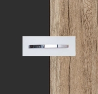 Rauch Quadra Metallic Grey Carcase with Sanremo Oak Light Front and Chrome Color Handle No1 AA05D