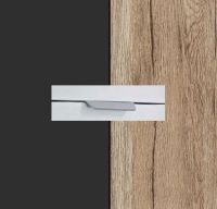 Rauch Quadra Metallic Grey Carcase with Sanremo Oak Light Front and Chrome Color Handle No2 AA05R