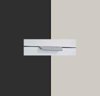 Rauch Quadra Metallic Grey Carcase with Silk Grey Front and Aluminium Color Handle No2 AA06L