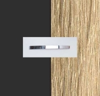 Rauch Quadra Metallic Grey Carcase with Sonoma Oak Front and Chrome Color Handle No1 A871D
