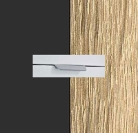 Rauch Quadra Metallic Grey Carcase with Sonoma Oak Front and Chrome Color Handle No2 A871R