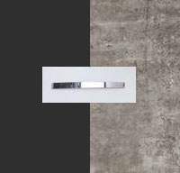 Rauch Quadra Metallic Grey Carcase with Stone Grey Front and Aluminium Color Handle No1 AA07B