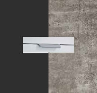 Rauch Quadra Metallic Grey Carcase with Stone Grey Front and Aluminium Color Handle No2 AA07L