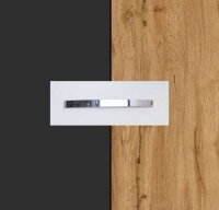 Rauch Quadra Metallic Grey Carcase with Wotan Oak Front and Chrome Color Handle No1 AA04D