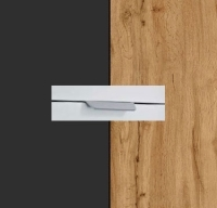Rauch Quadra Metallic Grey Carcase with Wotan Oak Front and Chrome Color Handle No2 AA04R