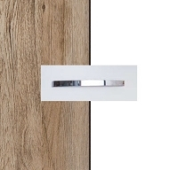 Rauch Quadra Sanremo Oak Light Carcase with Alpine White Front and Chrome Color Handle No1 AA20D