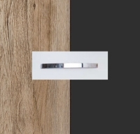 Rauch Quadra Sanremo Oak Light Carcase with Metallic Grey Front and Chrome Color Handle No1 AA21D