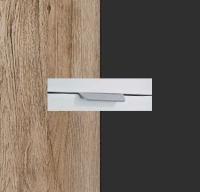 Rauch Quadra Sanremo Oak Light Carcase with Metallic Grey Front and Chrome Color Handle No2 AA21R