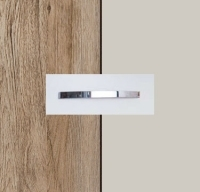 Rauch Quadra Sanremo Oak Light Carcase with Silk Grey Front and Chrome Color Handle No1 AA22D