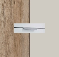 Rauch Quadra Sanremo Oak Light Carcase with Silk Grey Front and Chrome Color Handle No2 AA22R