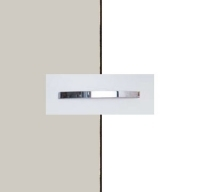 Rauch Quadra Silk Grey Carcase with Alpine White Front and Aluminium Color Handle No1 AA27B