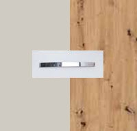 Rauch Quadra Silk Grey Carcase with Aritsan Oak Front and Chrome Color Handle No1 AD66D