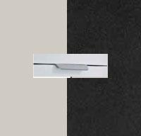 Rauch Quadra Silk Grey Carcase with High Polish Effect Grey Front and Aluminium Color Handle No2 AD74L