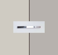 Rauch Quadra Silk Grey Carcase with High Polish Soft Grey Front and Chrome Color Handle No1 AA43D