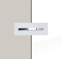 Rauch Quadra Silk Grey Carcase with High Polish White Front and Aluminium Color Handle No1 AA35B