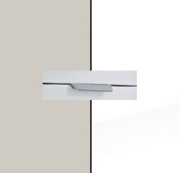 Rauch Quadra Silk Grey Carcase with High Polish White Front and Aluminium Color Handle No2 AA35L