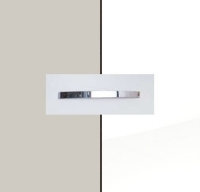 Rauch Quadra Silk Grey Carcase with High Polish White Front and Chrome Color Handle No1 AA35D