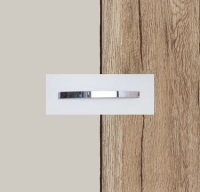 Rauch Quadra Silk Grey Carcase with Sanremo Oak Light Front and Chrome Color Handle No1 AA26D