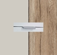 Rauch Quadra Silk Grey Carcase with Sanremo Oak Light Front and Chrome Color Handle No2 AA26R