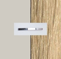 Rauch Quadra Silk Grey Carcase with Sonoma Oak Front and Chrome Color Handle No1 AA23D
