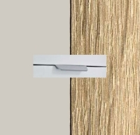 Rauch Quadra Silk Grey Carcase with Sonoma Oak Front and Chrome Color Handle No2 AA23R
