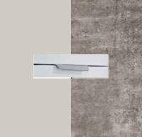 Rauch Quadra Silk Grey Carcase with Stone Grey Front and Aluminium Color Handle No2 AA61L