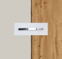 Rauch Quadra Silk Grey Carcase with Wotan Oak Front and Chrome Color Handle No1 AA25D
