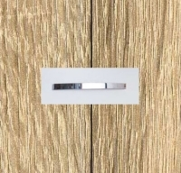 Rauch Quadra Sonoma Oak Carcase and Front with Chrome Color Handle No1 A570D