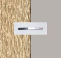 Rauch Quadra Sonoma Oak Carcase with High Polish Soft Grey Front and Chrome Color Handle No1 AA37D