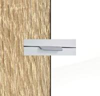 Rauch Quadra Sonoma Oak Carcase with High Polish White Front and Aluminium Color Handle No2 A580L
