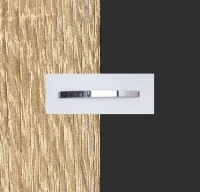 Rauch Quadra Sonoma Oak Carcase with Metallic Grey Front and Chrome Color Handle No1 A573D