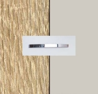 Rauch Quadra Sonoma Oak Carcase with Silk Grey Front and Aluminium Color Handle No1 AA01B