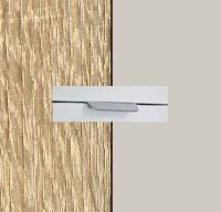 Rauch Quadra Sonoma Oak Carcase with Silk Grey Front and Aluminium Color Handle No2 AA01L