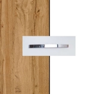 Rauch Quadra Wotan Oak Carcase with Alpine White Front and Chrome Color Handle No1 AA15D