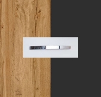 Rauch Quadra Wotan Oak Carcase with Metallic Grey Front and Chrome Color Handle No1 AA16D