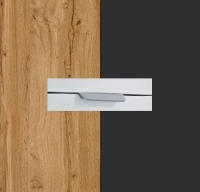 Rauch Quadra Wotan Oak Carcase with Metallic Grey Front and Chrome Color Handle No2 AA16R