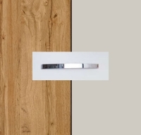 Rauch Quadra Wotan Oak Carcase with Silk Grey Front and Chrome Color Handle No1 AA17D