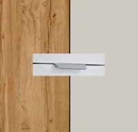 Rauch Quadra Wotan Oak Carcase with Silk Grey Front and Chrome Color Handle No2 AA17R