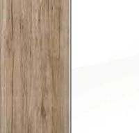 Sanremo Oak Light Carcase and High Polish White Front A009D
