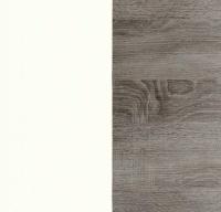 White with Dark Rustic Oak 064