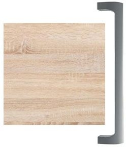 Rustic Oak Finish 725 with Chrome Handle