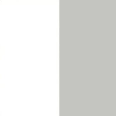 ZA104 : Matt White with Silk Grey Front