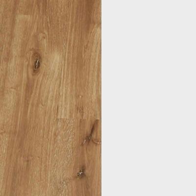 ZA695 : Atlantic Light Oak with Matt Crystal White Glass Front