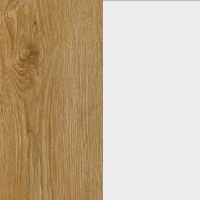 ZA365 : Natural Royal Oak with Matt Crystal White Glass Front