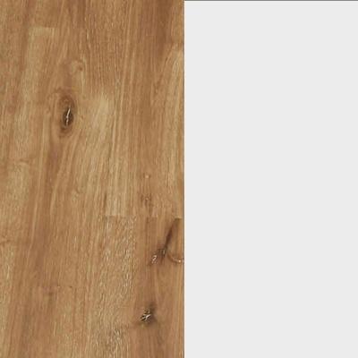 ZA685 : Atlantic Light Oak with Crystal White Glass Front
