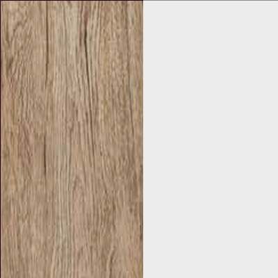ZA645 : Sanremo Oak Light with Crystal White Glass Front
